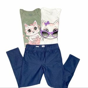 Girl's bundle set | Graphic tees and legging